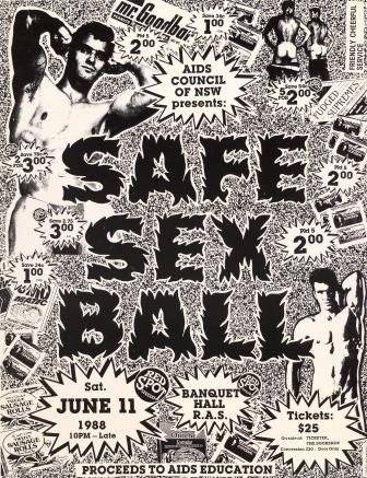 Safe sex ball June 11 1988 image