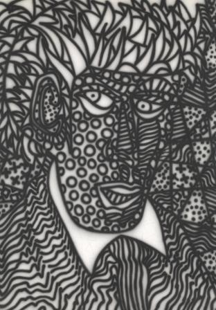 Tattooed head image