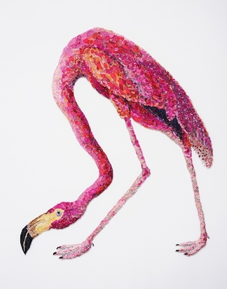 Flaming Flamingo 2011 – after John James Audubon, 1838   image