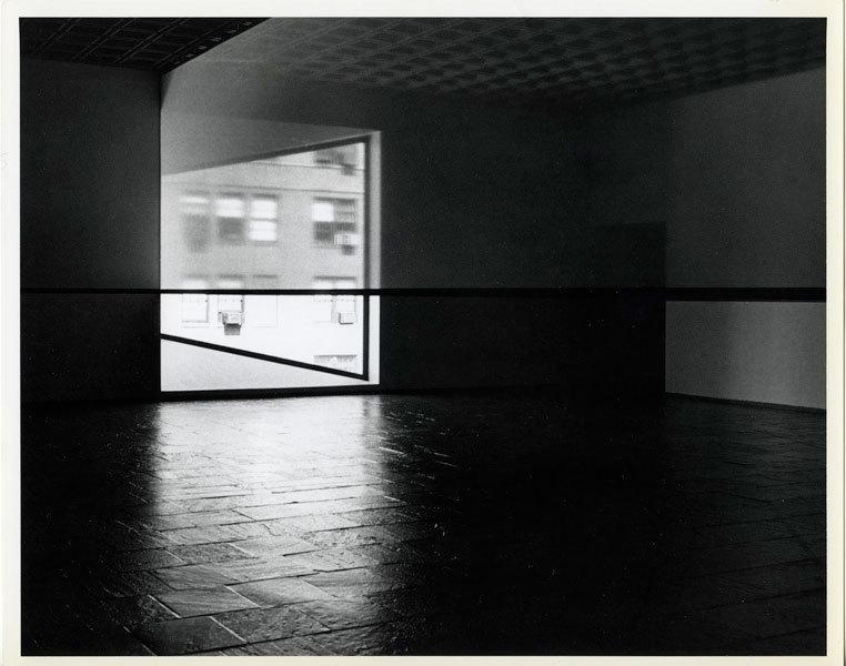 Scrim veil—Black rectangle—Natural light, Whitney Museum of American Art, New York image