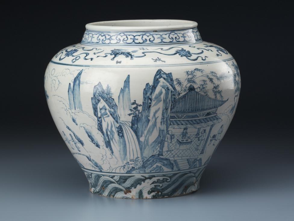 CHINESE: Wine jar (late 14th century-15th century) image