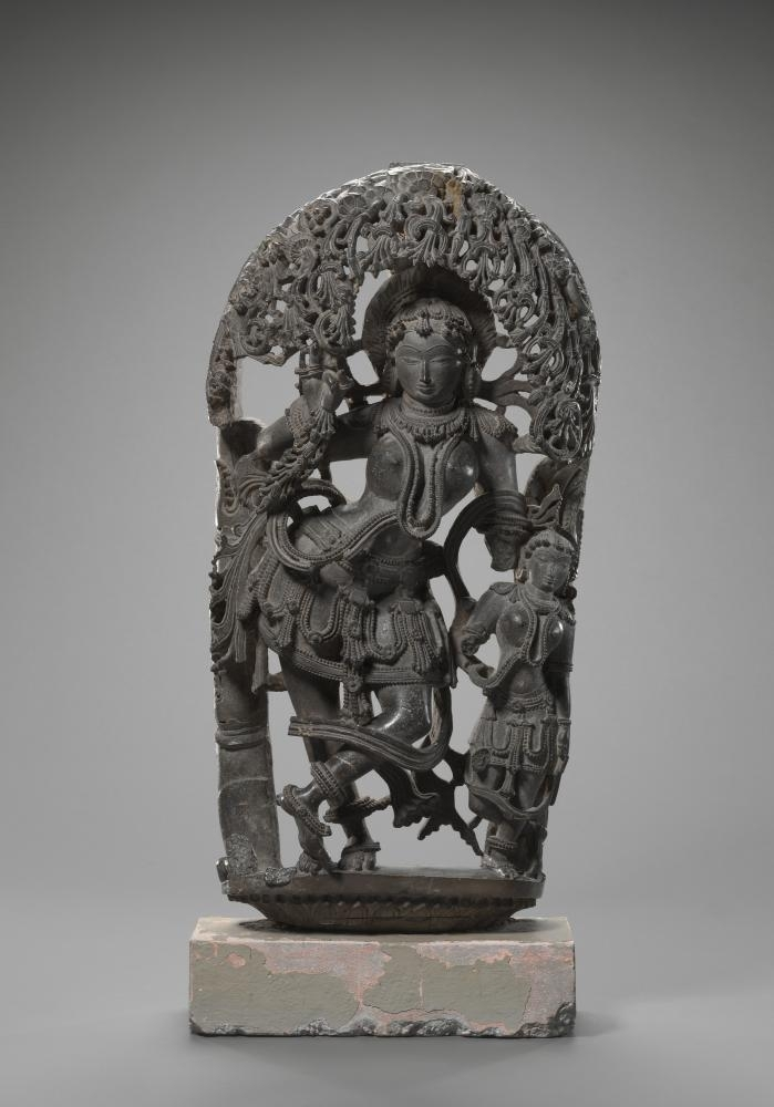 INDIAN: Tree goddess, Salabhanjika (1150-1200) image