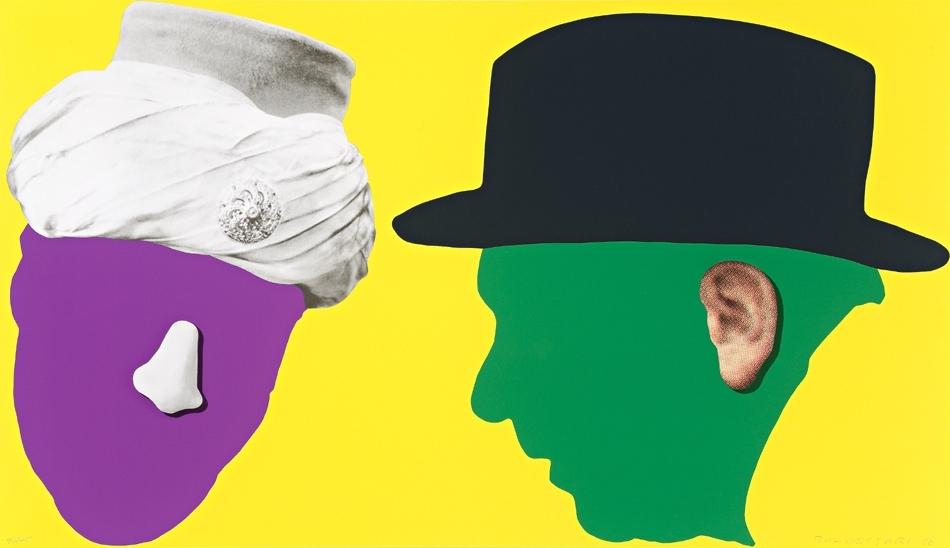 John BALDESSARI Nose and Ears etc: The Gemini Series: Two Profiles...  2006 image