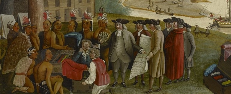 Penn's treaty with the Indians image