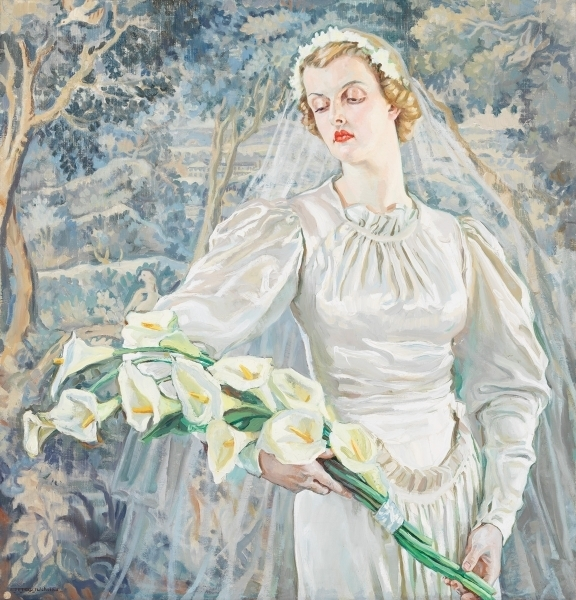 The bride (June Ashley-Wilson), c. 1938 image