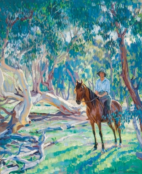 In the bush (Dorothy Richmond on horseback), 1927 image