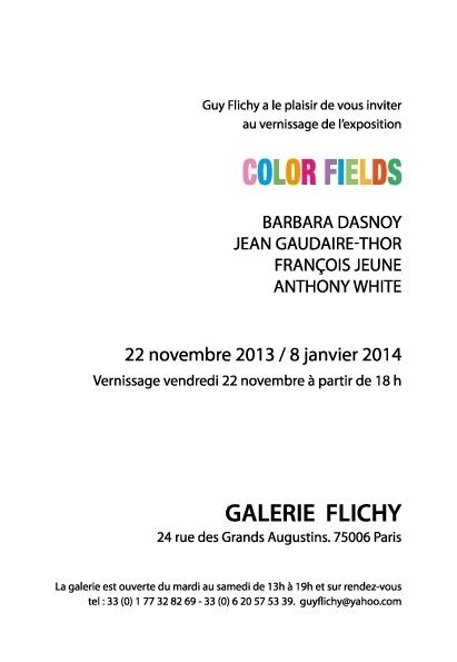 COLOUR FIELDS Exhibition at Galerie Flichy,Paris image