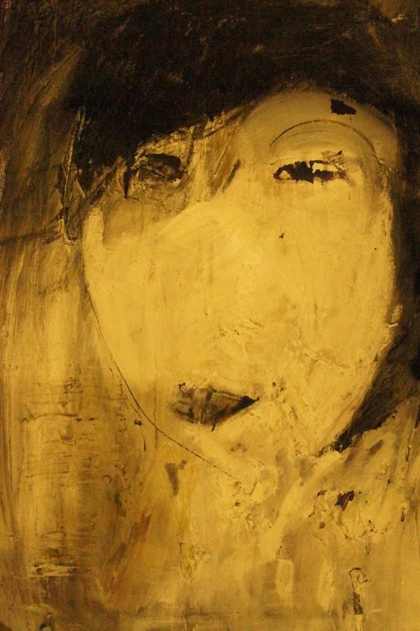 Chris Edmund, La Japonaise, 2013, acrylic and oil stick, 70 x 56cm image
