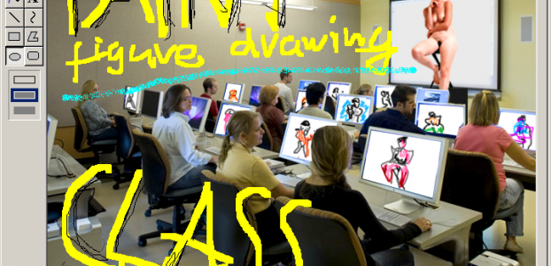 PAINT figure drawing class! with Aram Bartholl image