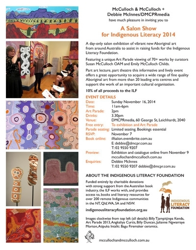 A Salon Show for Indigenous Literacy 2014 image