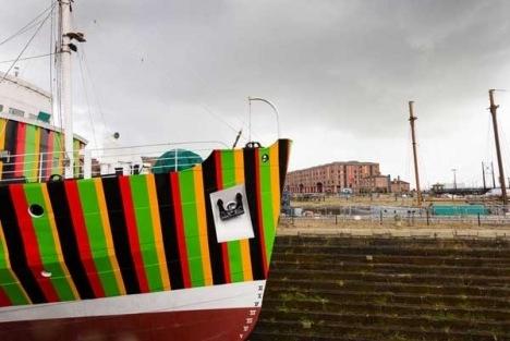 Liverpool Biennial: Dazzle ship image
