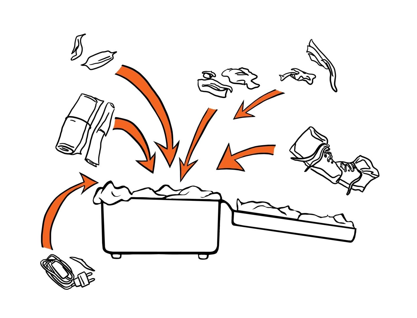Kaya Barry,How to Pack a Bag (detail), 2014, digital print image
