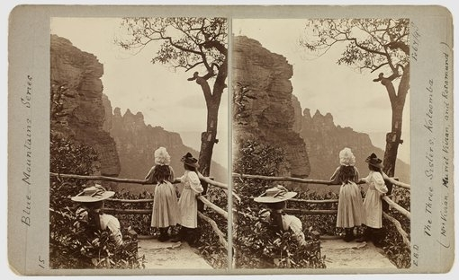 The Three Sisters Katoomba – Mrs Vivian, Muriel Vivian and Rosamund 7 Feb 1898 image