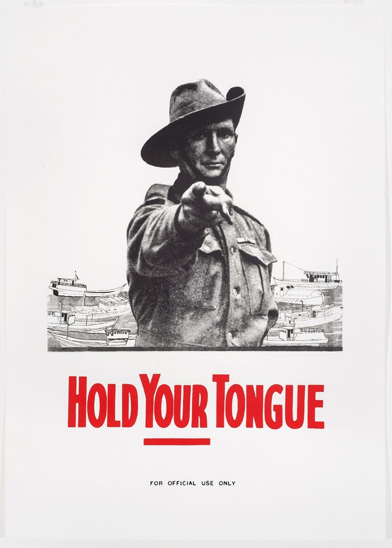 Martin James, Hold Your Tongue, 2014, screen print, 70x50cm image