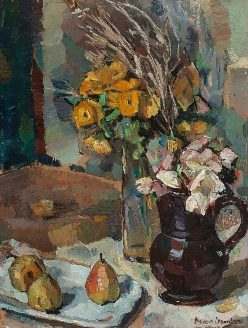 Still Life with Flowers and Pears image