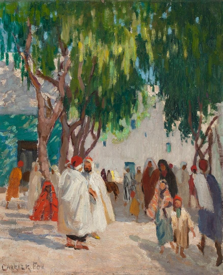 (Arabs Walking Down a Street) image