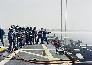 Damage Control Training, USS Nashville, Senegal (from 'Events Ashore' series)  image