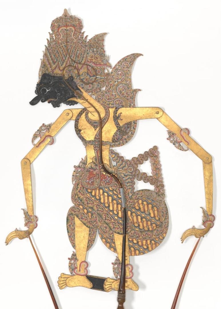 Prabu Suyudana, wayang kulit puppet  image