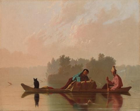 Fur Traders Descending the Missouri image
