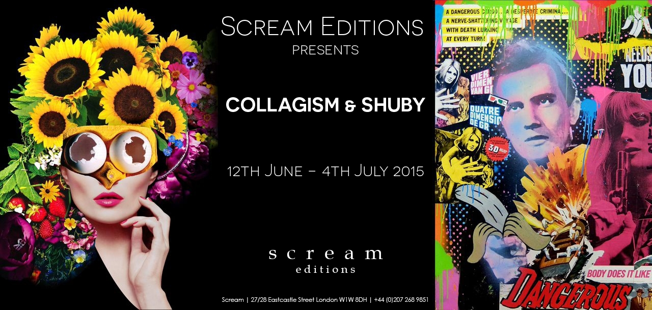 Collagism & Shuby – Joint Exhibition at Scream Editions image