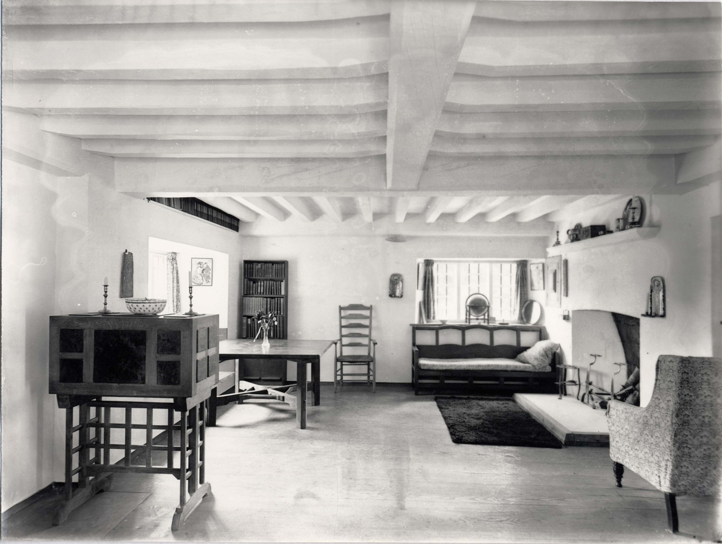 Interior of Beechanger, Sidney Barnsley's cottage at Sapperton, 'Cheltenham Art Gallery and Museum' image