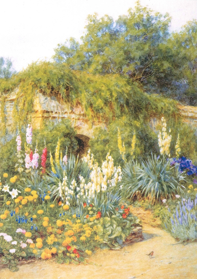 Helen Allingham South Border at Munstead Wood watercolour, c.1905 Garden Museum image