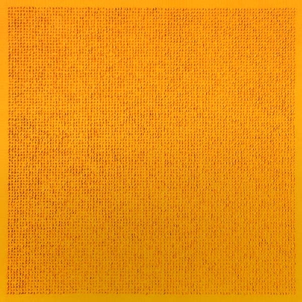Lezlie Tilley, '10,609 tiny stones arranged according to the laws of chance - yellow' 2015 image