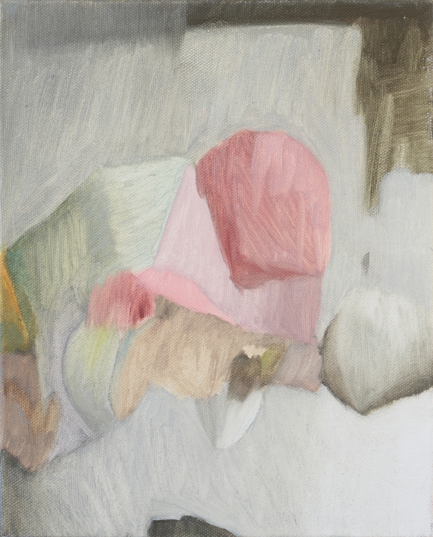Carol Swain, Turn Around,  2015, oil on canvas, 25.5 x 20cm image