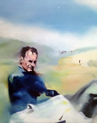 Michael Armstrong, A Man Who Seeks Freedom, oil on canvas image