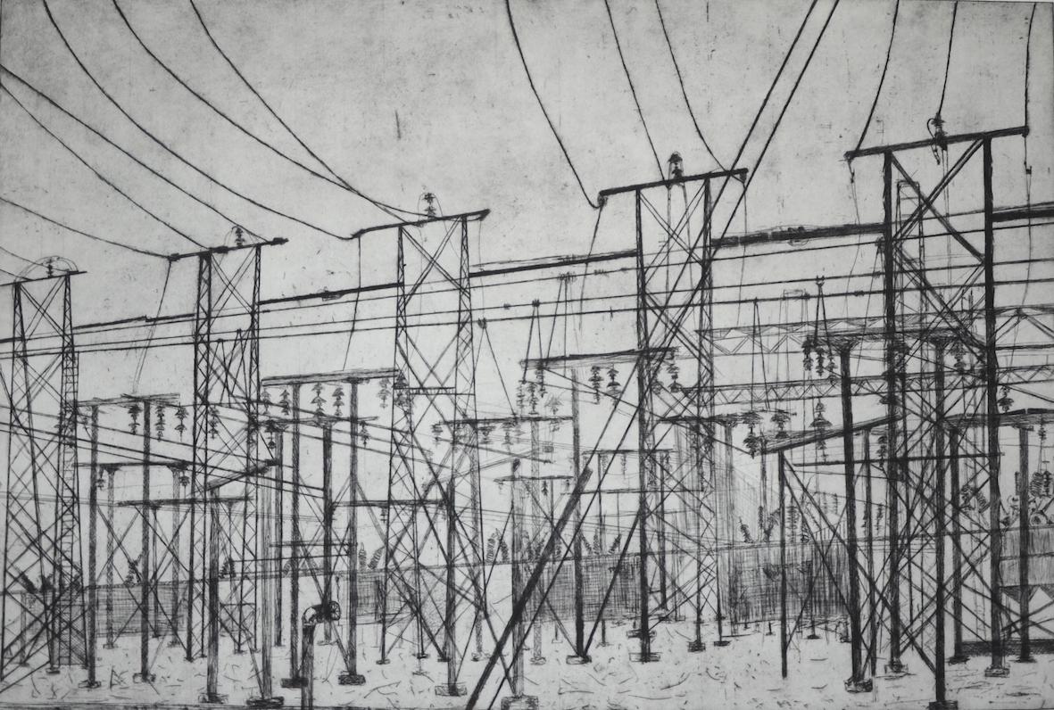 Olivia Mazzone, Power Site, etching, 108x78cm image