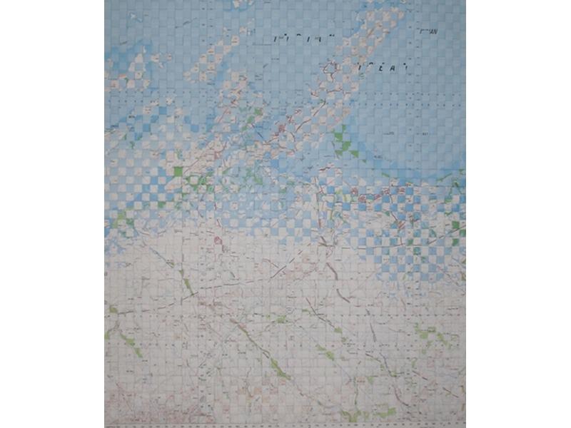 Rowena Doyle, Good Country, 2015, paper maps, 73x62cm image