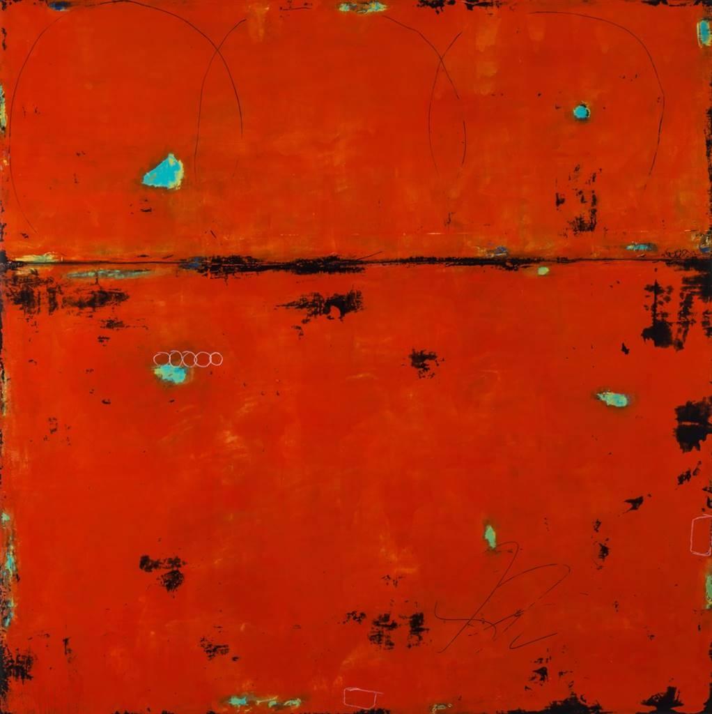 Candace Sweet Primack. Looking Back. Acrylic on Panel. image