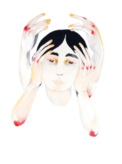 Bethany O'Donnell, All Hands In, 2015, watercolour on paper, 38cm x 28cm image
