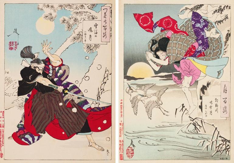 Yoshitoshi Tsukioka One hundred aspects of the moon image