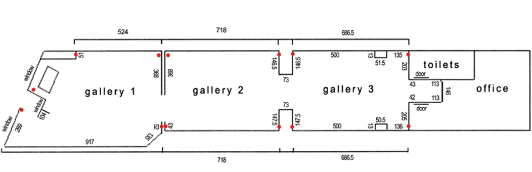 red gallery floor plan image