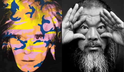 Andy Warhol and Ai Weiwei image