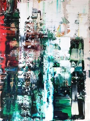 Ayda Mansour, Untitled 36, Acrylic on Canvas, 48x36 image