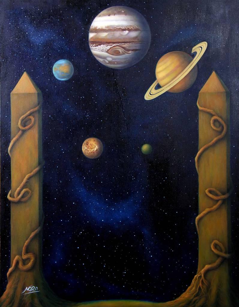 Nora Nourmohammadi, Eternity, Oil on Canvas, 35.5x27.5 image