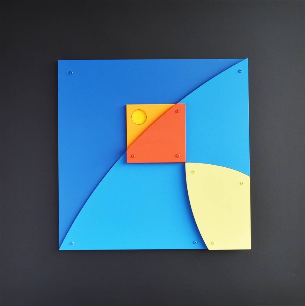 Cesar Garcia, Cometa, Acrylic & Mixed Media, 31.5 x 31.5 x 4 image