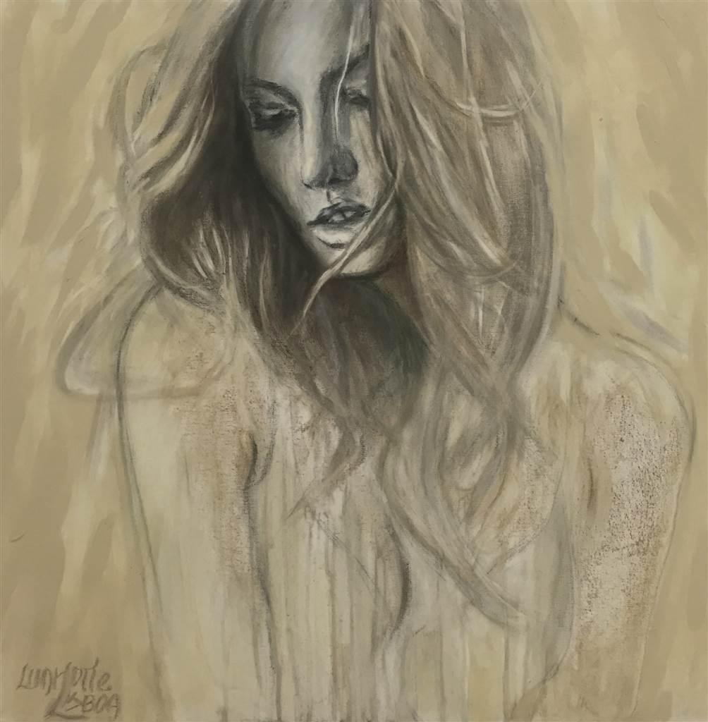 Charlotte Lisboa, Petal, Mixed Media on Canvas, 30 x 30 image