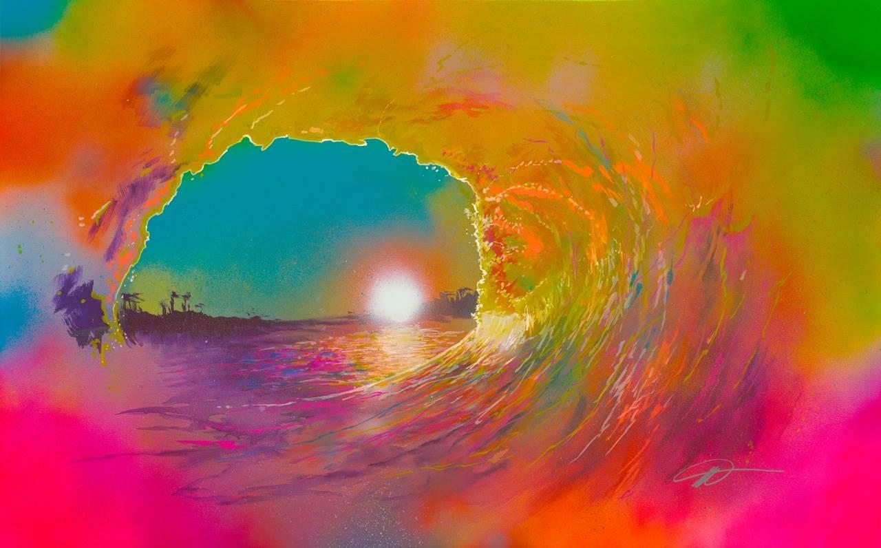 Mobarick Abdullah III, Sol, Spray Paint on Canvas, 30 x 48 image