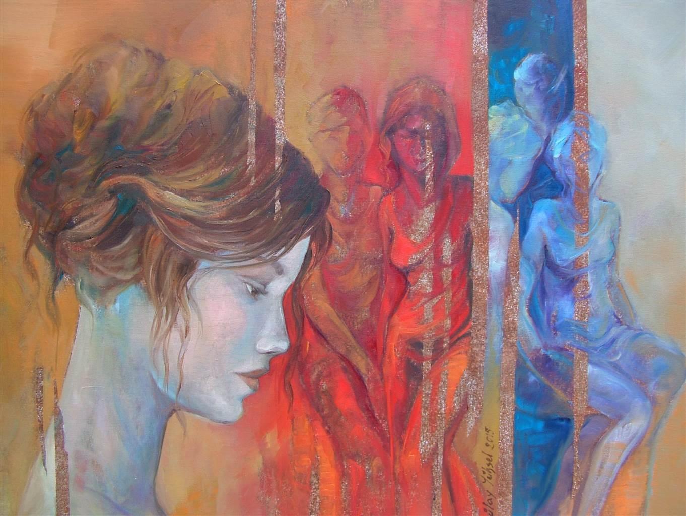 Gülay Yüksel, Jealousy, Oil on Canvas, 23.5x31.5 image