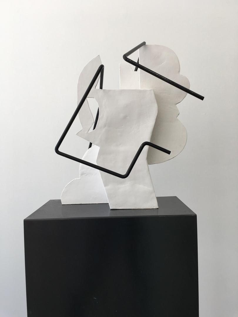 Sanné Mestrom, Dear Charlie, 2015, ceramic and steel, 55 x 35 x 25cm (irregular). Image courtesy of the artist and Sullivan+Strumpf, Sydney image