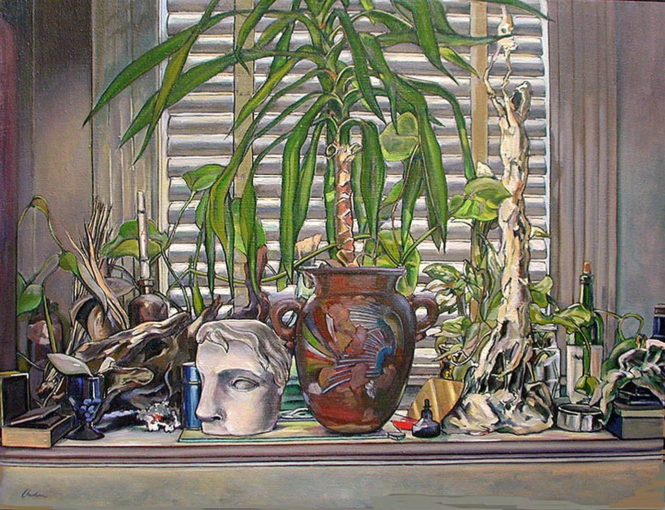 James Chisholm, Classic Cast with Cane Plant, oil on Canvas, 28''x 36'' image