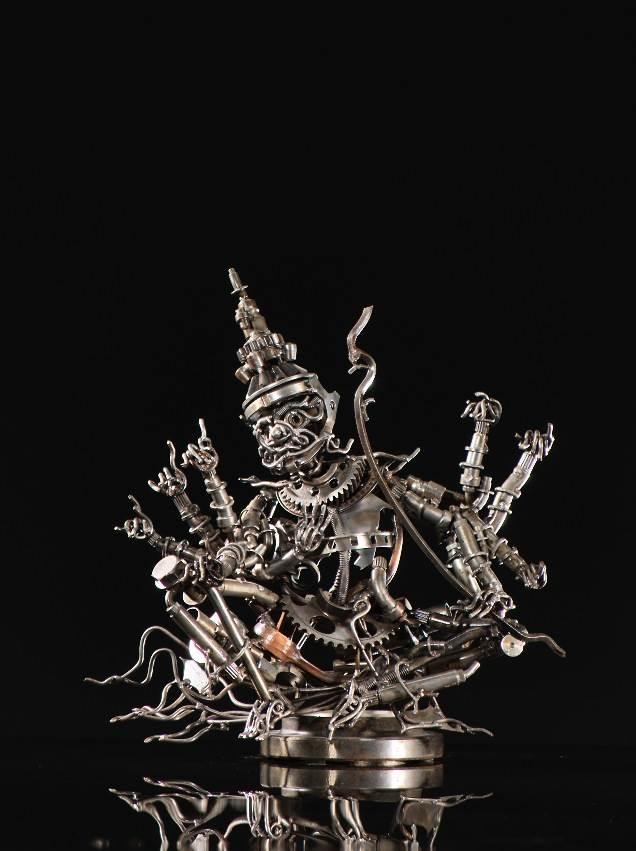 Banjerd Lekkong, Ravana's Talking, Iron, 15.5''x 15''x 7.5'' image