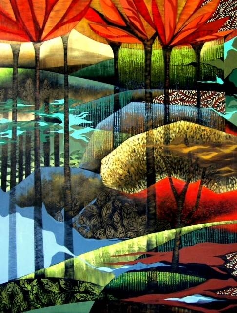 Andrea De Luigi, Inner Journey, Acrylic on Canvas, 51.5''x 39.5'' image