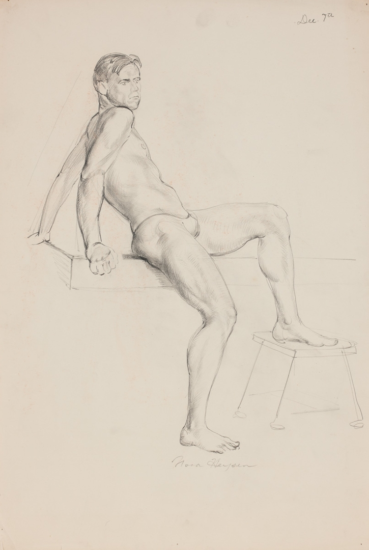 Seated Male with Leg on Stool image