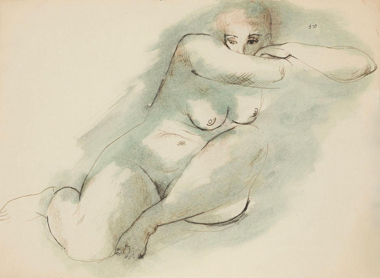 (Female Nude Resting Head on Arms) image