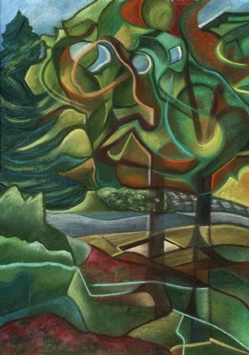 Marian Gaucher, Autum Aura, Pastel on Paper, 19.5'x 14' image