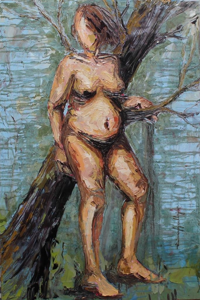Tiziana Fejzullaj, In the Woods, Oil on Canvas, 36'x 24' image